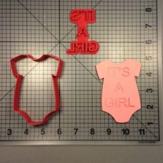 Onesie Girl 101 Cookie Cutter and Stamp