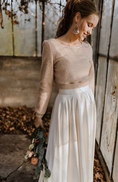 If you are a casual bride and are going for a casual wedding, if you are going to elope or tie the knot in the city hall and don't want to look too formal, Tailored Wedding Dress, Civil Wedding Dresses, Country Wedding Dresses, Casual Wedding Dresses, Winter Wedding Outfits, Disney Wedding Dress, Lace Mermaid Wedding Dress, Lace Dress With Sleeves, The Dress
