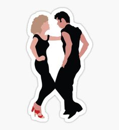 Grease The Musical Sticker- red bubble- $2.50