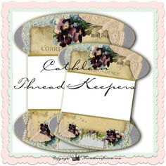 Cathleen /Lace or thread Keepers instant by fromthecraftroom, £2.24