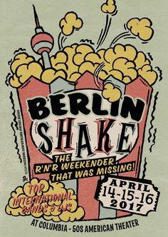 Berlin Shake er en rock'n'roll weekend fra den 14. til den 16. april med bands, DJs, pladetræf, vintage tøj og loppemarked for folk med hang til 1950'er rock'n'roll, r…