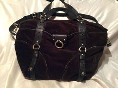 Juicy couture brown velour large tote crossbody purse #JuicyCouture #TotesShoppers