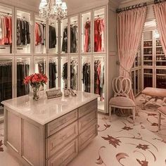 Omg this closet is out of this world #thestyleluxe by thestyleluxe