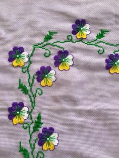 This Pin was discovered by Ayf Embroidery Motifs, Cross Stitch Embroidery, Cross Stitch Designs, Cross Stitch Patterns, Yarn Shop, Cross Stitch Flowers, Easy Crochet Patterns, Vintage Patterns, Teapot Cover