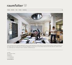 Webseite www.raumfalter.ch