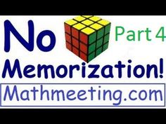 How to solve A Rubik's Cube - No Memorization Part 4 - http://www.thehowto.info/how-to-solve-a-rubiks-cube-no-memorization-part-4/