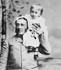 James Roosevelt, Sr with his son, future United States President Franklin Delano Roosevelt. ca. 1884