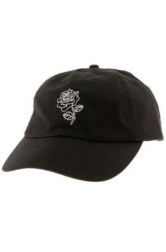 bcc49ebf63e6 The Rose Strapback Hat in Black Black Hat Baseball