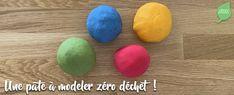 Recette de pâte à modeler naturelle, zéro déchet et non toxique Fruit, Diy, Green, Modeling Paste, Food Coloring, Gifts, Children, Bricolage, Do It Yourself