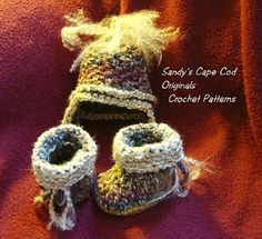 Ravelry: Quick and Easy Earflap Hat and Baby Booties pattern by Sandy Powers