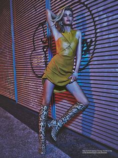 Stella Maxwell Wears Nighttime Fashions for Dress to Kill - photography by Geoff Barrenger Fashion Photography Inspiration, Photoshoot Inspiration, Mode Inspiration, Editorial Photography, Photography Poses, Stella Maxwell, Fashion Poses, Fashion Shoot, Editorial Fashion