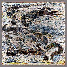 "Saatchi Art Artist Ivan Lozica; Painting; ""REPTILIAN BATH"" Bath Art, Animal Fashion, Black Canvas, Abstract Expressionism, Fine Art Paper, City Photo, Saatchi Art, Paintings, Art Prints"