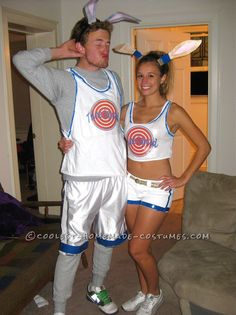 Last-Minute Space Jam Bugs Bunny and Lola Bunny Couple Costume... Coolest Halloween Costume Contest