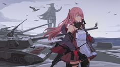 This HD wallpaper is about Video Game, Girls Frontline, (Girls Frontline), Original wallpaper dimensions is file size is Anime Military, Military Girl, Video Games Girls, Girls Anime, Girls Frontline, Manga, Cover Photos, Art Girl, Hd Wallpaper