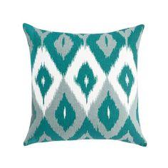 DwellStudio Diamond Ikat Square Pillow in Azure