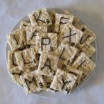 Game night snacks: Scrabble rice krispy treats