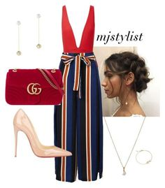 """Untitled #361"" by mjstylist ❤ liked on Polyvore featuring Haight, WithChic, Christian Louboutin, Mateo and Gucci"
