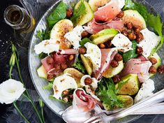 Recipe: Fig, Mozzarella and Prosciutto Salad - Quick and elegant, this fig salad is perfect for any occasssion