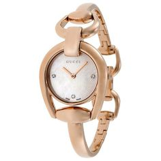 229162414cc9 Horsebit Mother of Pearl Dial Rose Gold PVD Ladies Watch
