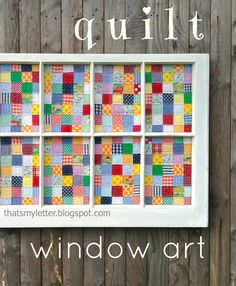 """That's My Letter: """"Q"""" is for Quilt Window, quilt window art"""