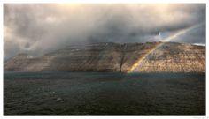 Rainbow Faroe island | Arc-en-ciel Atlantique nord - On the way back Faroe island it startet raining, and then came the biggest rainbow  |    En quittant les îles Féroé il commence pleuvoir, puis arrive l'arc en ciel