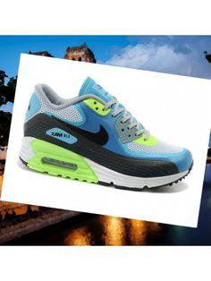 b74b4751f8cf5 Mesdames   Hommes Nike Air Max 90 Blanc Lunar90 Gamma Bleu Noir Volt FN2IV