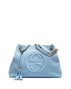 Gucci Soho Nubuck Leather Medium Chain-Strap Tote