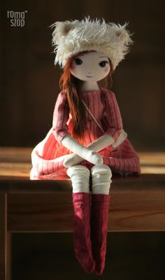 :: Crafty :: Cloth Doll :: RomaSzop: Idzie zima :)