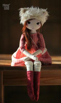 :: Crafty :: Cloth Doll :: RomaSzop: Idzie zima :)