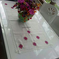 Kanaviçe mutfak masası üzeri runner #tubahome