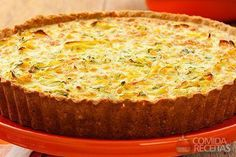 Quiche leve de cream craker e legumes Quiches, Cream Crackers, Light Diet, Calzone, Vegan Life, Easy Cooking, Mashed Potatoes, Banana Bread, Food To Make