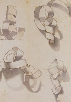 Drawing exercise: paper curls