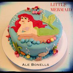 Little Mermaid Cake #lasirenita #littlemermaid