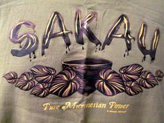 Sakau Tee Shirt Sm Brown Hawaiian Pure Micronesaian Power Plant Leaves Drug #IslandSouvenirs #ShortSleeve