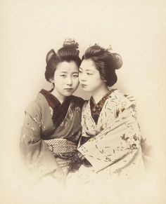 No title (Two young women, one facing the camera) Ogawa Kazumaga