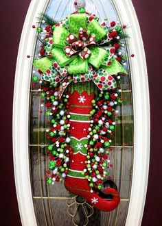 Jester stocking wreath