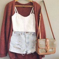 shorts shirt bags high waisted short crop tops jacket cardigan high waisted shorts