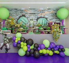 Hulk Birthday Parties, Balloon Decorations, Balloons, Birthdays, Marvel, Hulk Cakes, Projects, Decorations, Fiestas