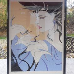 "steve leal art | Steve Leal ""Julia"" Patrick Nagel Like Painting Signed & Numbered #222 ..."
