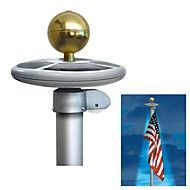 20-LED Solar Powered Garden Decor Light Top Flag Pole Flagpole Landscape Light. Save up to 80% Off at Light in the Box with Coupon and Promo Codes.