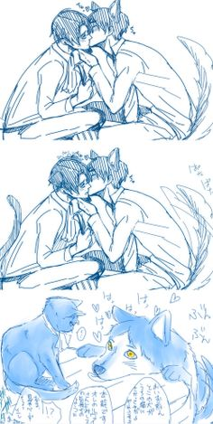 cat!Levi x dog!Eren ~ love me