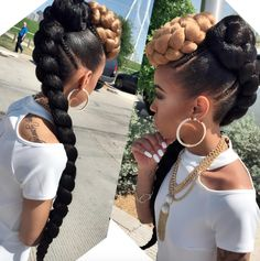 Here is 5 Braids Hairstyles Collection for you. 5 Braids Hairstyles 5 protective style african hair braiding to turn heads. African Braids Hairstyles, Protective Hairstyles, Ponytail Hairstyles, Girl Hairstyles, Weave Hairstyles, Protective Styles, Updos, Mohawk Ponytail, Goddess Hairstyles