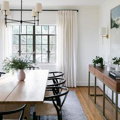 Dining Table In Kitchen, Fireplace In Dining Room, Large Dining Room Table, Dining Room Console, Dining Room Paint, Dining Area, Dining Room Inspiration, Home Decor Inspiration, Ideas Terraza