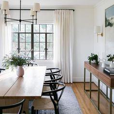 Dining Room Remodel, Black Dining Room, Interior, Dining Room Small, Farmhouse Dining Room, Home Decor, Dining Room Inspiration, Formal Dining Room, Dining Room Chandelier
