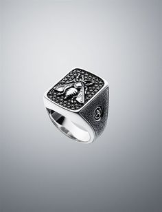 David Yurman Petrvs Bee Ring With Black Diamonds
