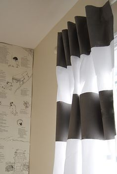 love the curtains- but look at the wall!  papered in shel silverstein!