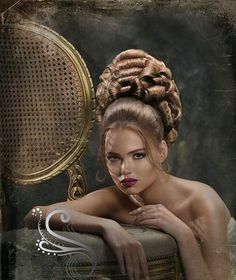 All that hair didn't just grow out of her head, but it looks great anyway! Arabic Hairstyles, Evening Hairstyles, Retro Hairstyles, Full Hair, Big Hair, Poofy Hair, High Fashion Hair, Blonde Updo, 1960s Hair