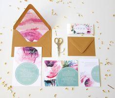 Druckbare Aquarell Hochzeit Einladung Suite von ShopPaperGarden