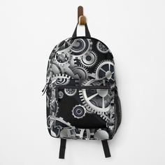 Steampunk Gears, Gear S, Black Backgrounds, Different Styles, Fashion Backpack, Clutches, Backpacks, Printed, Awesome