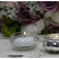 szklany świecznik na podgrzewacze  #candlestick #tealight #glass #vintage